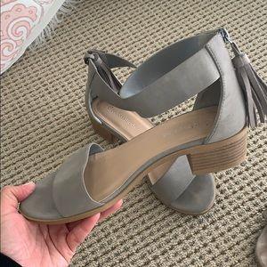 Grey sandal heels, worn once